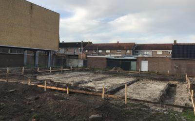 """Voortgang bouwwerkzaamheden Microwoningen type """"De Mus"""" Waalwijk: Grondwerk"""