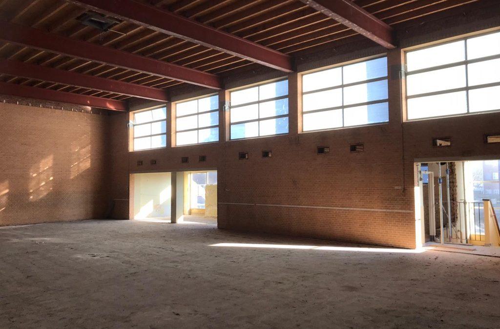 Voortgang bouwwerkzaamheden Gymzaal Waalwijk: Sloopwerk Lofts
