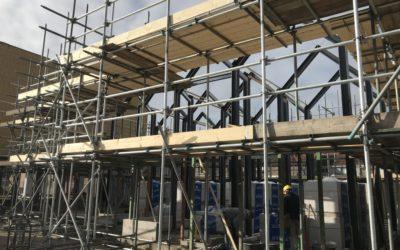 """Voortgang bouwwerkzaamheden Microwoningen type """"De Mus"""" Waalwijk: Start metselwerk"""